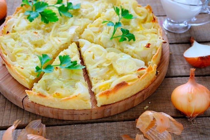 Рецепты лукового пирога