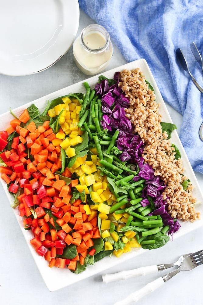 Вкусный салат «Радуга»