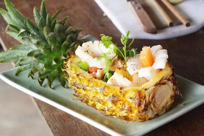 Вкусные рецепты с ананасом: салаты, десерты, второе блюдо, выпечка