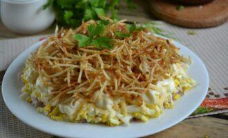 Рецепты салатов с картофелем фри