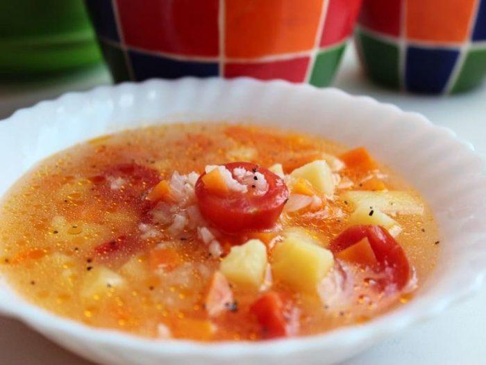 Детокс суп с помидорами