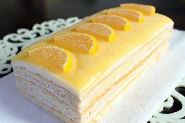 Домашний лимонный торт