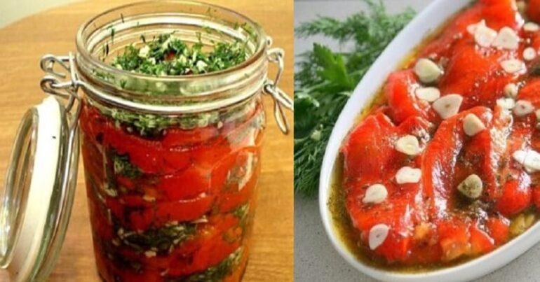 перец болгарский с чесноком и зеленью