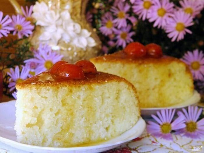Творожный кекс с манкой