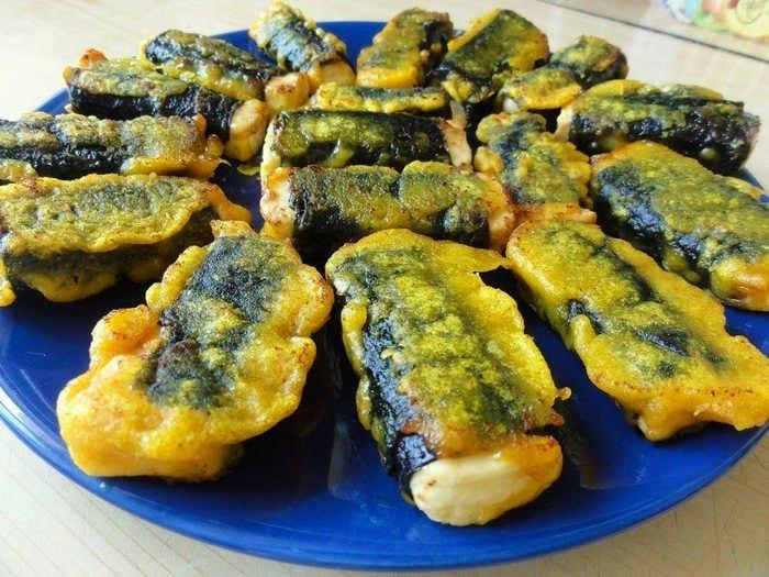 Вегетарианская рыба - закуска с адыгейским сыром