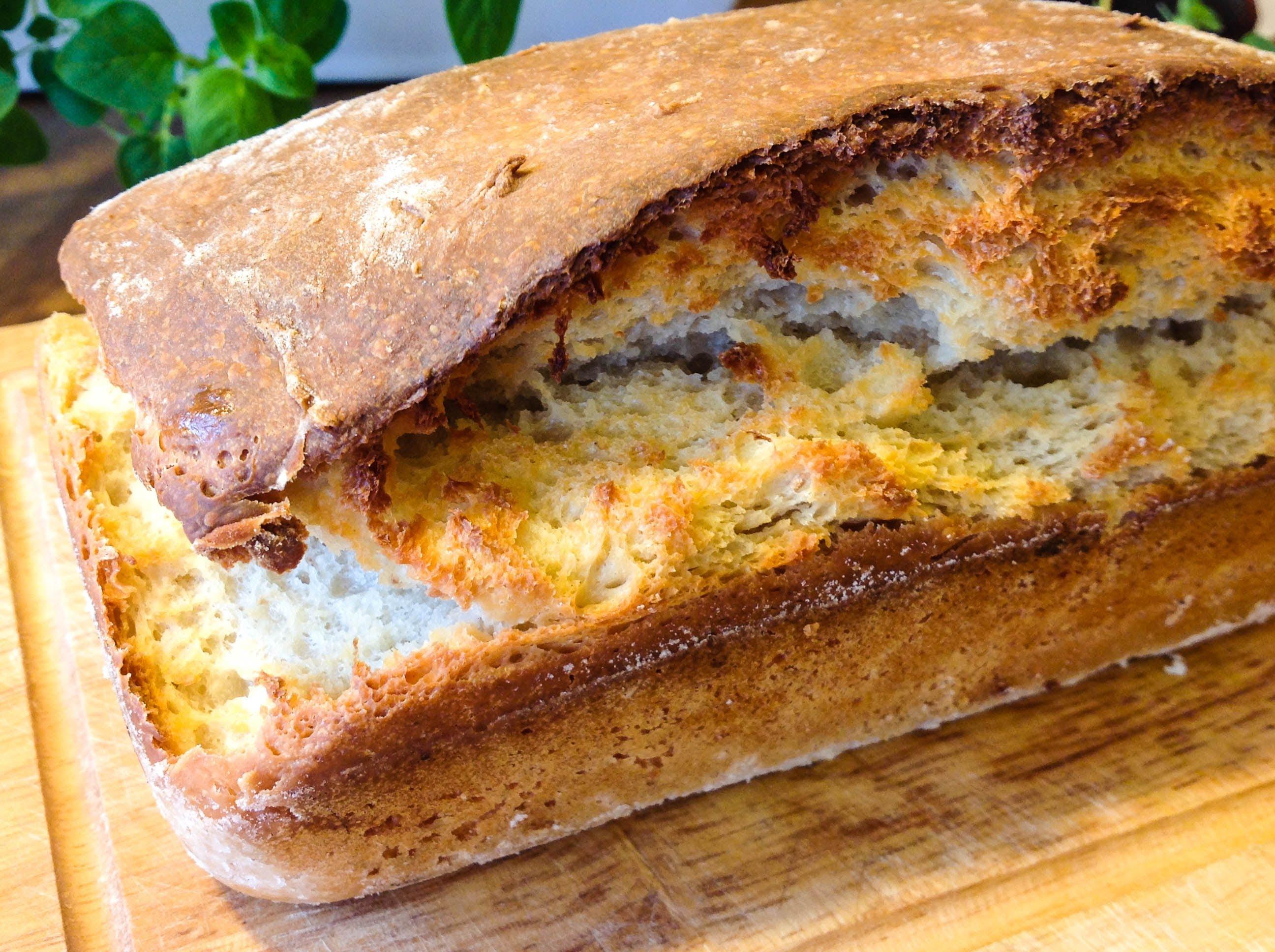 Бездрожжевой хлеб на кефире в духовке рецепт