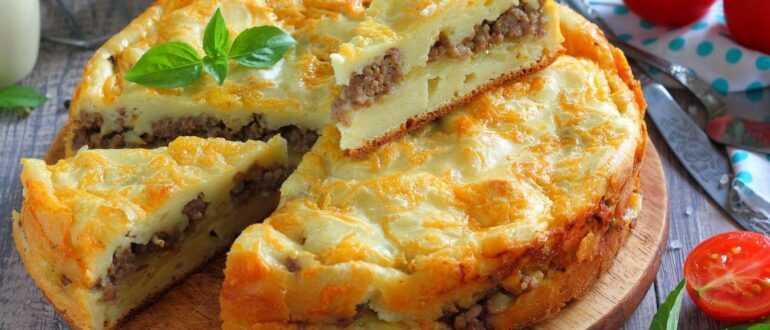 заливной картофельный пирог